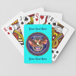 Patriotic or Veteran Important View About Design Playing Cards