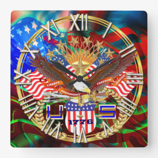 Patriotic or Veteran Pick one View Artist Comments Square Wall Clock