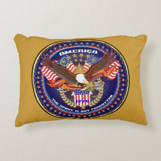 Patriotic or Veteran View About Design Accent Pillow