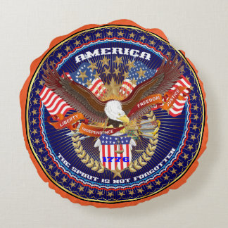 Patriotic or Veteran View About Design Round Pillow