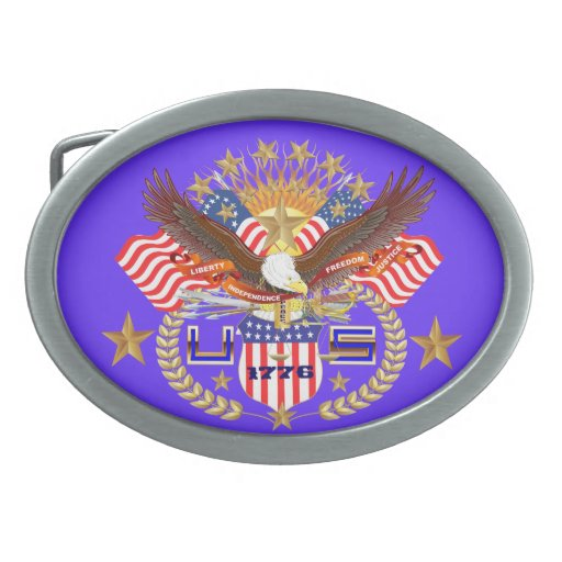 Patriotic or Veteran View Artist Comments Below Belt Buckle