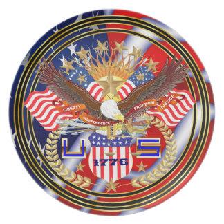 Patriotic or Veteran View Artist Comments Below Dinner Plate