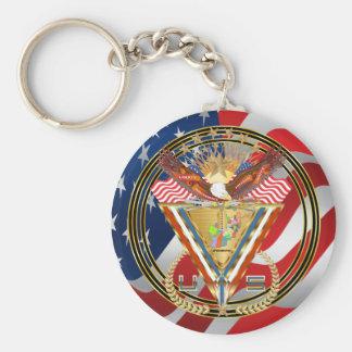 Patriotic or Veteran View Artist Comments Below Key Chain