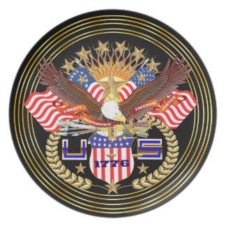 Patriotic or Veteran View Artist Comments Below Melamine Plate