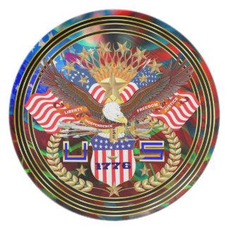 Patriotic or Veteran View Artist Comments Below Plate