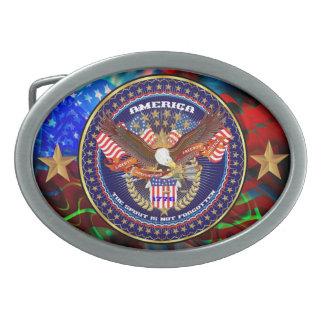 Patriotic or Veteran  View Artist Comments Oval Belt Buckle
