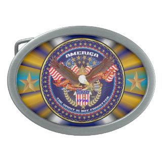 Patriotic or Veteran  View Artist Comments Oval Belt Buckles