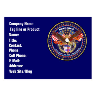 Patriotic or Veteran  View Artist Comments Large Business Cards (Pack Of 100)