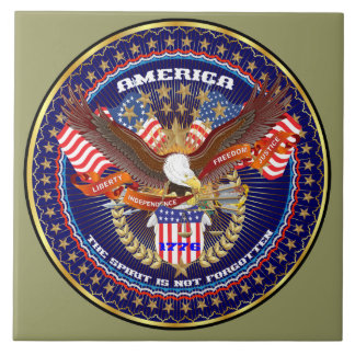 Patriotic or Veteran View Artist Comments Ceramic Tile
