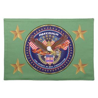 Patriotic or Veteran View Artist Comments Cloth Placemat