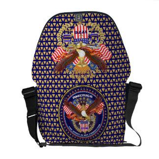 Patriotic or Veteran View Artist Comments Courier Bag