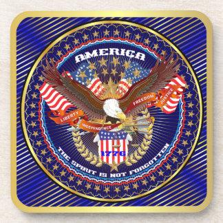 Patriotic or Veteran View Artist Comments Drink Coasters