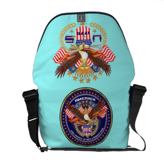 Patriotic or Veteran View Artist Comments Messenger Bags