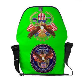 Patriotic or Veteran View Artist Comments Messenger Bag