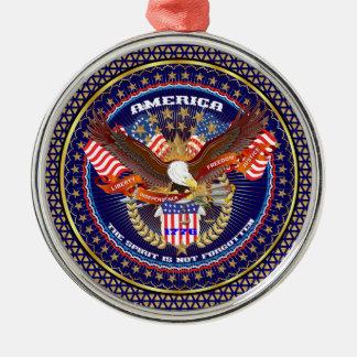 Patriotic or Veteran View Artist Comments Metal Ornament