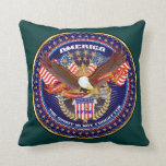 Patriotic or Veteran View Artist Comments Throw Pillow