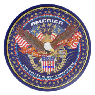 Patriotic or Veteran View Artist Comments Plate
