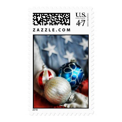 Patriotic Ornaments Christmas Postage