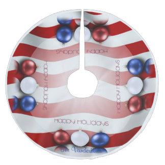Patriotic Ornaments Christmas Tree Skirt