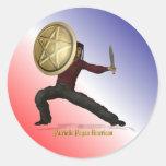 Patriotic Pagan American Classic Round Sticker