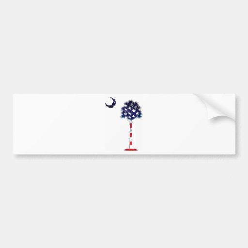 Patriotic Palmetto tree Bumper Sticker