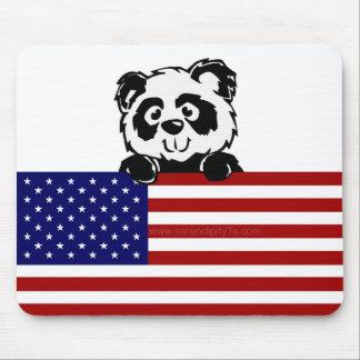 Patriotic Panda Mouse Pad
