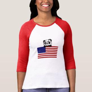 Patriotic Panda Tee Shirt