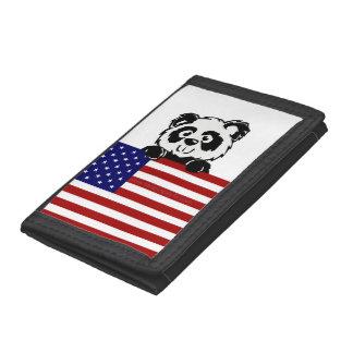 Patriotic Panda Tri-fold Wallets
