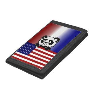 Patriotic Panda Trifold Wallet