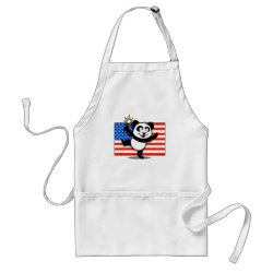 Apron with Patriotic American Panda design