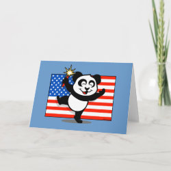 Standard Card with Patriotic American Panda design