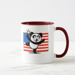 Combo Mug with Patriotic American Panda design