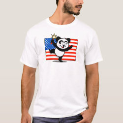 Patriotic American Panda Men's Basic T-Shirt