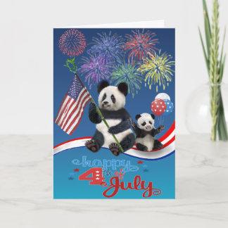 Patriotic Pandas Card
