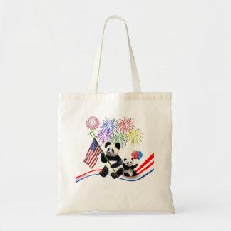 Patriotic Pandas Tote Bag