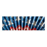 Patriotic Paper Fan Double-Sided Mini Business Cards (Pack Of 20)
