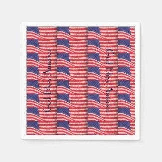 Patriotic Paper Napkins, God Bless America