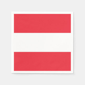 Patriotic paper napkins with flag of Austria
