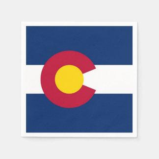 Patriotic paper napkins with flag of Colorado