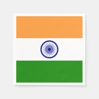 Patriotic paper napkins with India flag