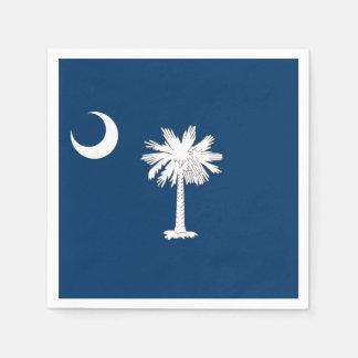 Patriotic paper napkins with South Carolina flag