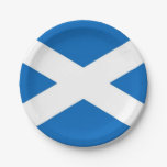 Patriotic paper plate with flag of Scotland