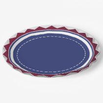 """Patriotic Paper Plates 9"""""""