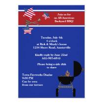 Patriotic Party BBQ Invitation