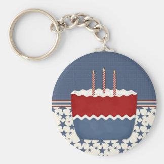 Patriotic Party Invitation (6) Basic Round Button Keychain