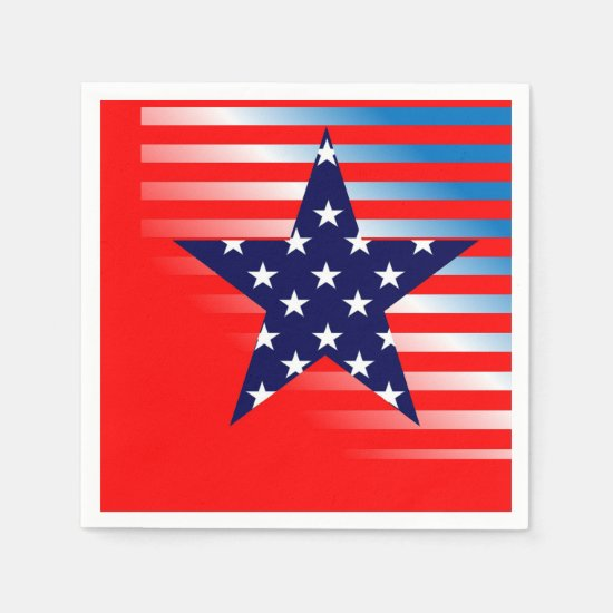 Patriotic Party July 4th Party Paper Napkins