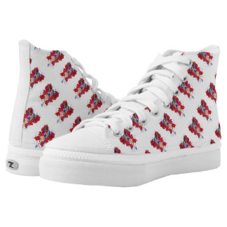 Patriotic Patsy Custom Zipz High Top Shoes Printed Shoes