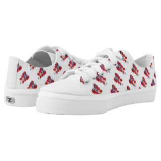 Patriotic Patsy Custom Zipz Low Top Shoes Printed Shoes