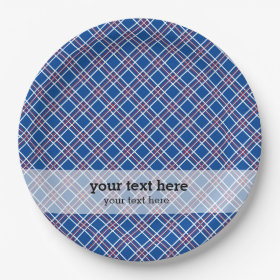 Patriotic pattern 9 inch paper plate
