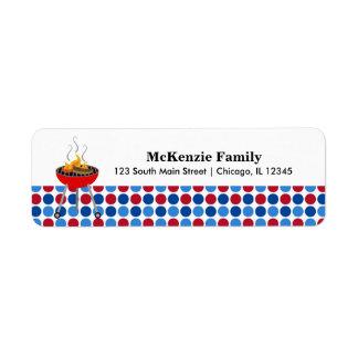 Patriotic pattern return address label